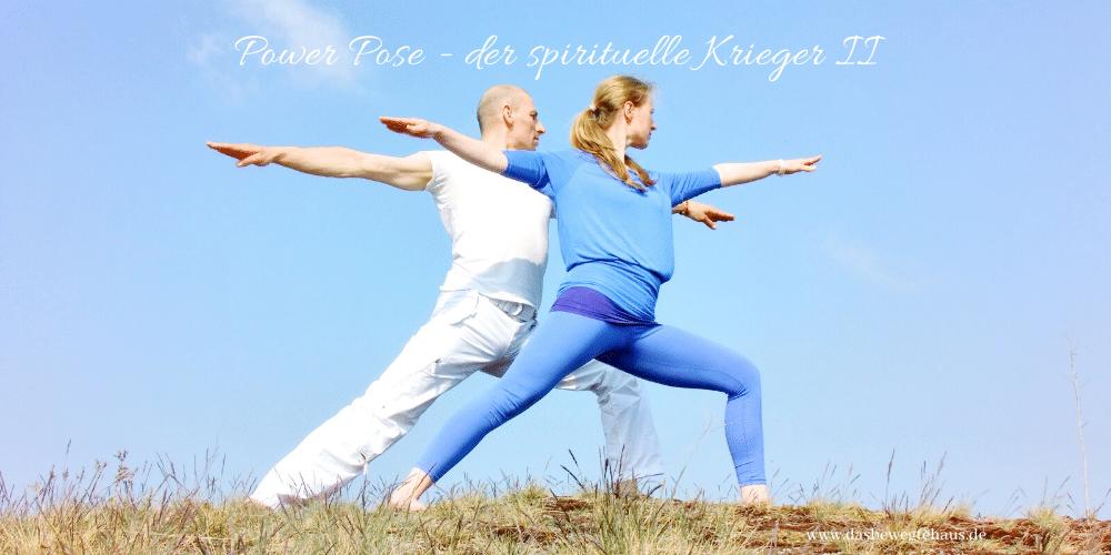 Yoga Power Pose im April - Der spirituelle Krieger II - Das Bewegte Haus Halle