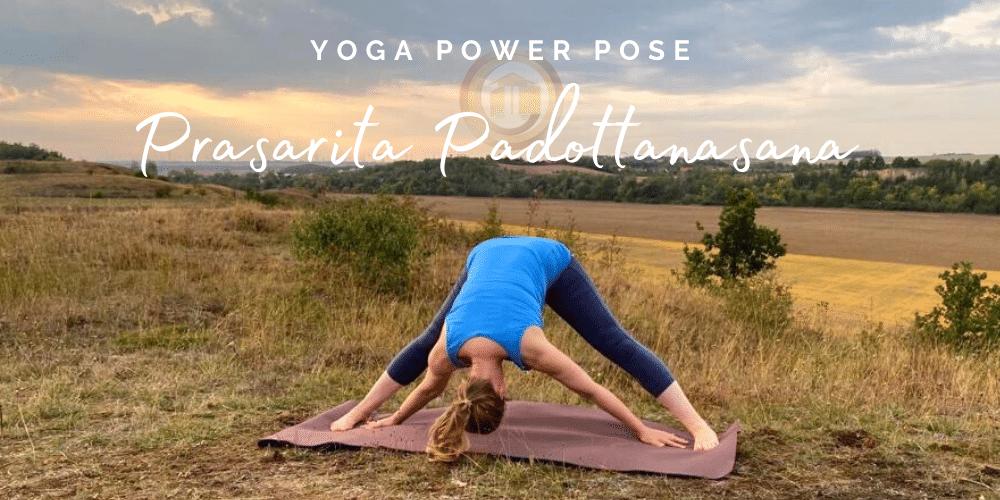 Prasarita Padottanasana - September Yoga Power Pose - Das Bewegte Haus Halle
